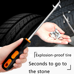 Pielęgnacja samochodu zdejmowane akcesoria na głowę narzędzia ręczne hak do czyszczenia kamienia rowek do opon Pebble Remover praktyczne łatwe zastosowanie przenośne|Odrdzewiacz|   -