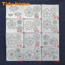 12 pçs/set Flores Teste Padrão Da Folha Sachikó Macio Modelos Sachikó Drawing Template Template Emboridery 15*12cm