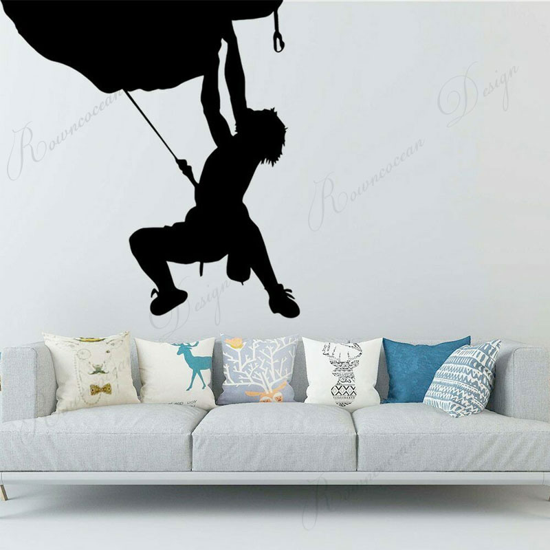 Rock Climbing Wall Sticker Vinyl Climber Wall Decals Extreme Sports Home Decor Interior Art Mural Club Wallpaper Removable 4157 Wall Stickers Aliexpress