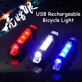 Bicycle Light Bike Taillight USB Rechargeable LED Bike Front Rear Tail Light for Safety Warning Cycling Bike Bicycle Accessories image