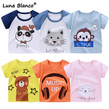 T-Shirt Clothing Girl Tops Baby-Boy Short-Sleeved Cotton Children's Summer Unisex Newest