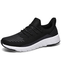 Men Casual Sports Shoes Mesh Breathable Men's Shoes Set Foot Running Shoes Men Comfortable Flying Woven Tide Shoes Running Shoes