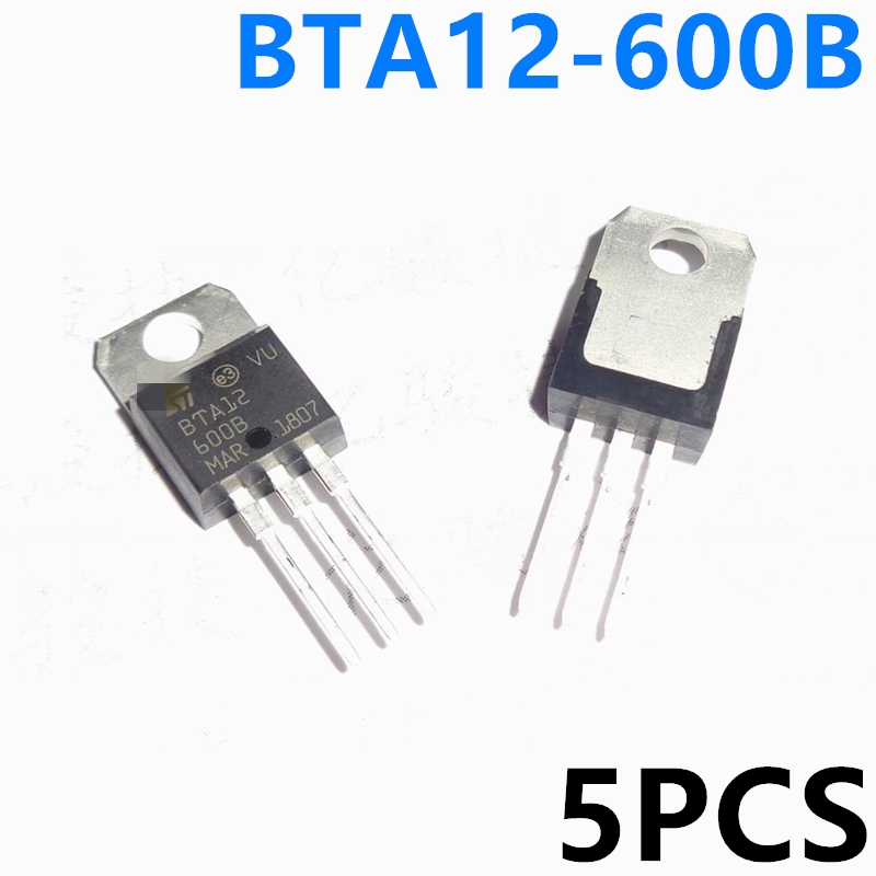 5PCS New BTA12-600BRG Triac 12A 600V TO-220 Three-terminal Bidirectional Spot Wholesale