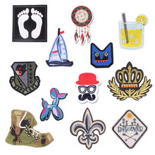 Food Dog Popular Embroidered Patch Cloth Military Patches for Clothing Shoes Flower Epaulette Stripes on Backpack Shoulder Badge