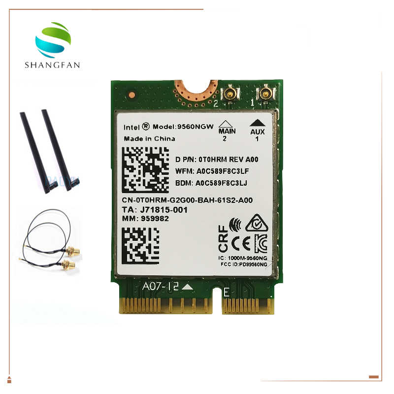 Dual Band 1 73Gbps Wireless For Intel AC 9560 9560NGW NGFF