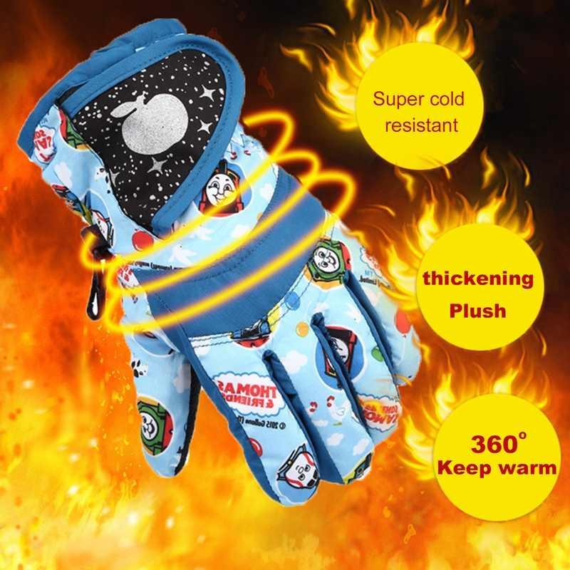 Зимние теплые лыжные перчатки для сноуборда Детские Зимние варежки водонепроницаемые дышащие перчатки для катания на лыжах M/L