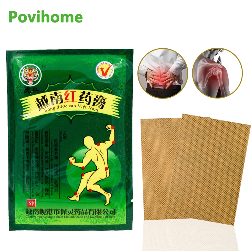 Sumifun 16 copë Vietnami Red Tiger Balm Pain Patches Patches Kineze Mjekësi Plaster