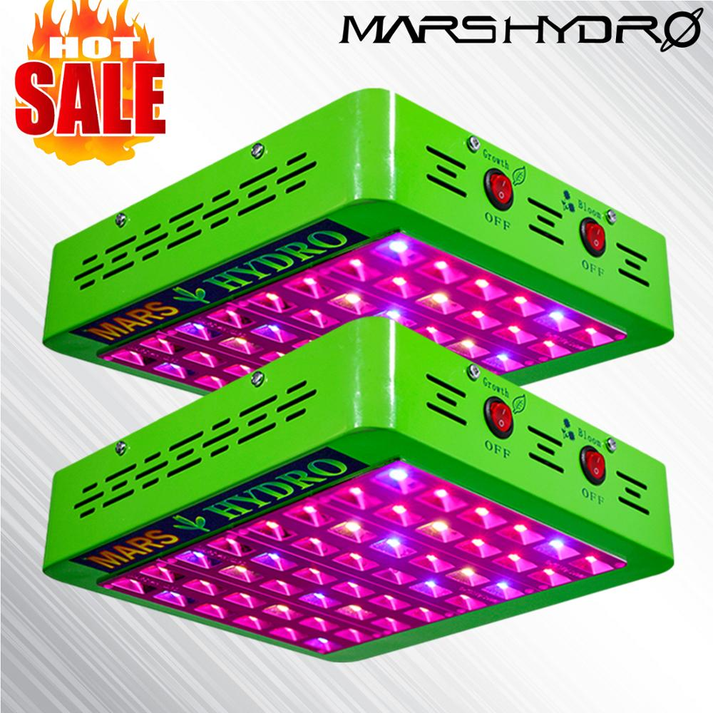 2PCS MarsHydro Reflector 300W LED Grow Light Lamp Full Spectrum Veg Bloom Lamp For Indoor Medicinal Plants