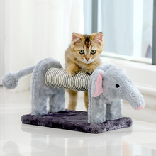 Cat Scratching Post for Cats Elephant Shaped Cat Scratcher Board with Sisal Bells for Protecting Cat Furniture Cat Toys Cat Tree
