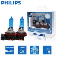 2X Philips H8 12V 35W visión de diamante 5000K Super blanco halógena de luz Auto faro coche bombillas lámpara de niebla 12360DVS2