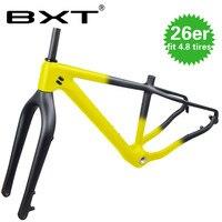 NEW Carbon Fat Bike Frame 26er Carbon mtb Fat bike Frame 26×4.8 Fat Tires Carbon Mountain Snow Bicycle Frame Road Bike frame
