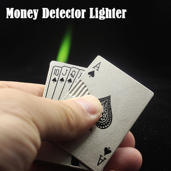 цена на Poker Butane Metal Lighter Torch Refillable Gas Cute Windproof Lighter Torch Jet Flame Esqueiro Dropship Suppliers