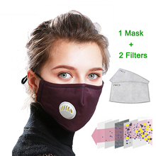 זיהום אנטי PM 2.5 פה מסכת אבק הנשמה רחיץ לשימוש חוזר מסכות כותנה יוניסקס פה מופל עבור אלרגיה אסטמה נסיעות