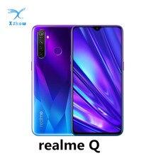 Realme Q мобильных телефонов 6,3 »Dewdrop 4 Гб 64 Гб Snapdragon 712AIE Octa Core 48MP Quad Камера VOOC Быстрая зарядка для мобильного телефона
