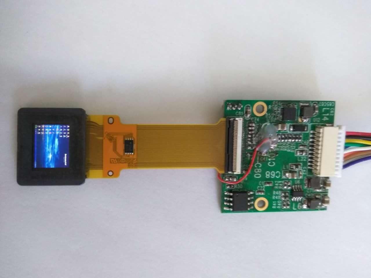 Affichage OLED polychrome 0.5 pouces AV/vga entrée de Signal monoculaire FPV viseur d'affichage de Spectacle vidéo