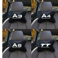 Reposacabezas supersuave para asiento de coche, cojín reposacabezas para cabeza y cuello, almohada ajustable para AUDI A3 A1 S LINE, accesorios para coche, 1 Uds.