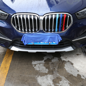 Image 3 - Car styling Front & Rear Bumper Guard Sill Plate Protector Cover Trim Stickers ABS Chrome For BMW X1 F48 2020 Exterior Accessory