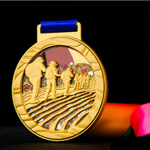 High Quality!Hiking Metal Medal Creative Mountaineering Medal Prize Souvenir,Free Shipping!