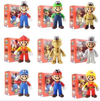OPP 13cm Mario Bros Luigi Yoshi Koopa Yoshi, Mario Maker Odyssey seta...