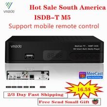 Vmade горячая Распродажа Бразилия Чили Перу цифрового ISDB-T ТВ тюнер ресивер компьютерной приставки к телевизору полностью HD 1080P H.264 USB декодер