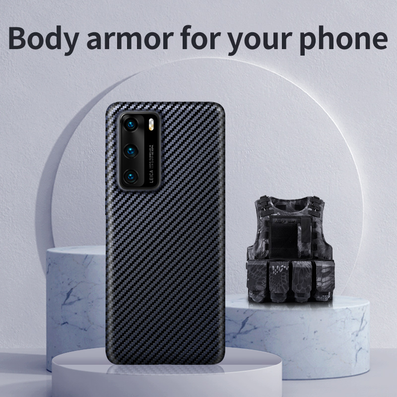 SanCore Huawei P40 P40 Pro Material Kevlar All-round Protection Anti-fall Back cellphone Shell Business Premium Cover phone case