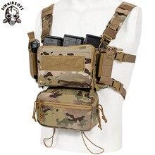 Tático micro equipamento de peito modular h harness d3cr pacote engraçado saco bolsa combate equipamento militar colete 5.56 mag colete airsoft