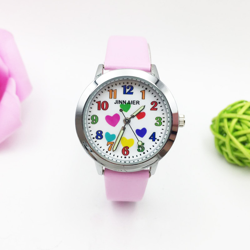 2020 New Children Watch Kids For Girl Fashion Quartz Wristwatch Boy Cartoon Watches Student Colorful Heart Waterproof Clock Gift