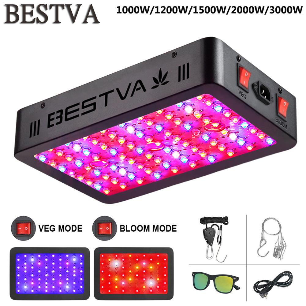 BestVA LED grow light 600W/1000W/1200W/1500W/2000W/3000W/4000W Full Spectrum for Indoor plants seed veg bloom fruit plants lamp(China)