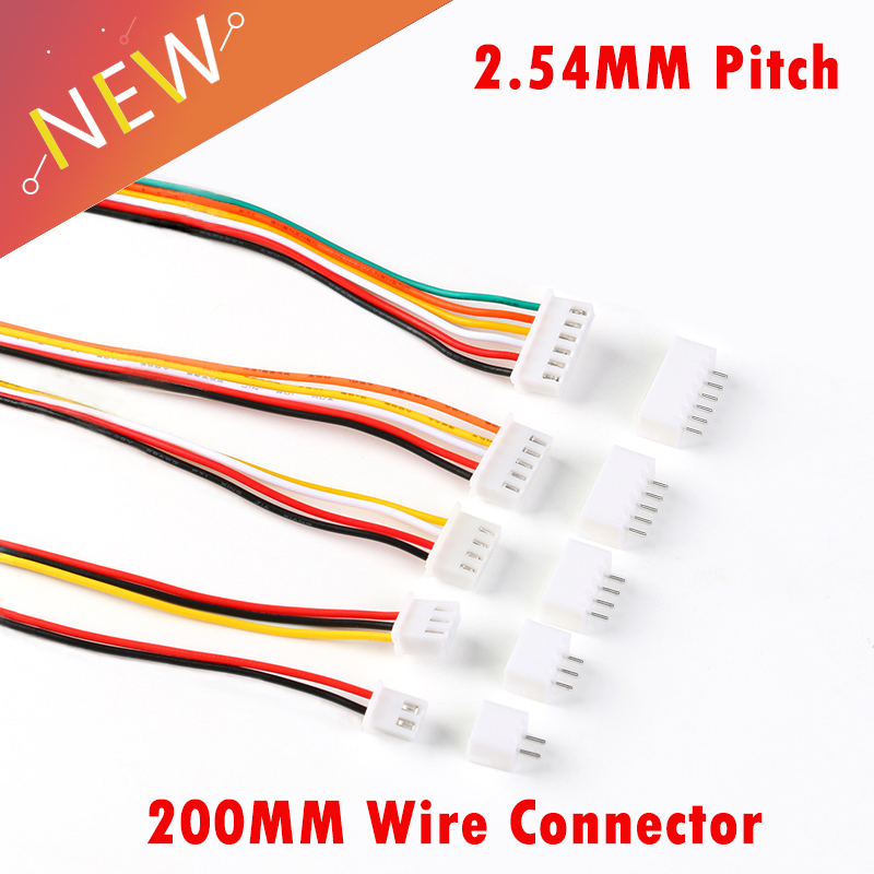 10Sets JST XH2.54 XH 2.54mm Wire Cable Connector 2/3/4/5/6 Pin Pitch Male Female Plug Socket 200MM Wire 26AWG