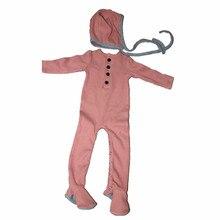 Новинка; осенняя одежда для малышей в рубчик; Детский комбинезон с чепчиком; Модная одежда