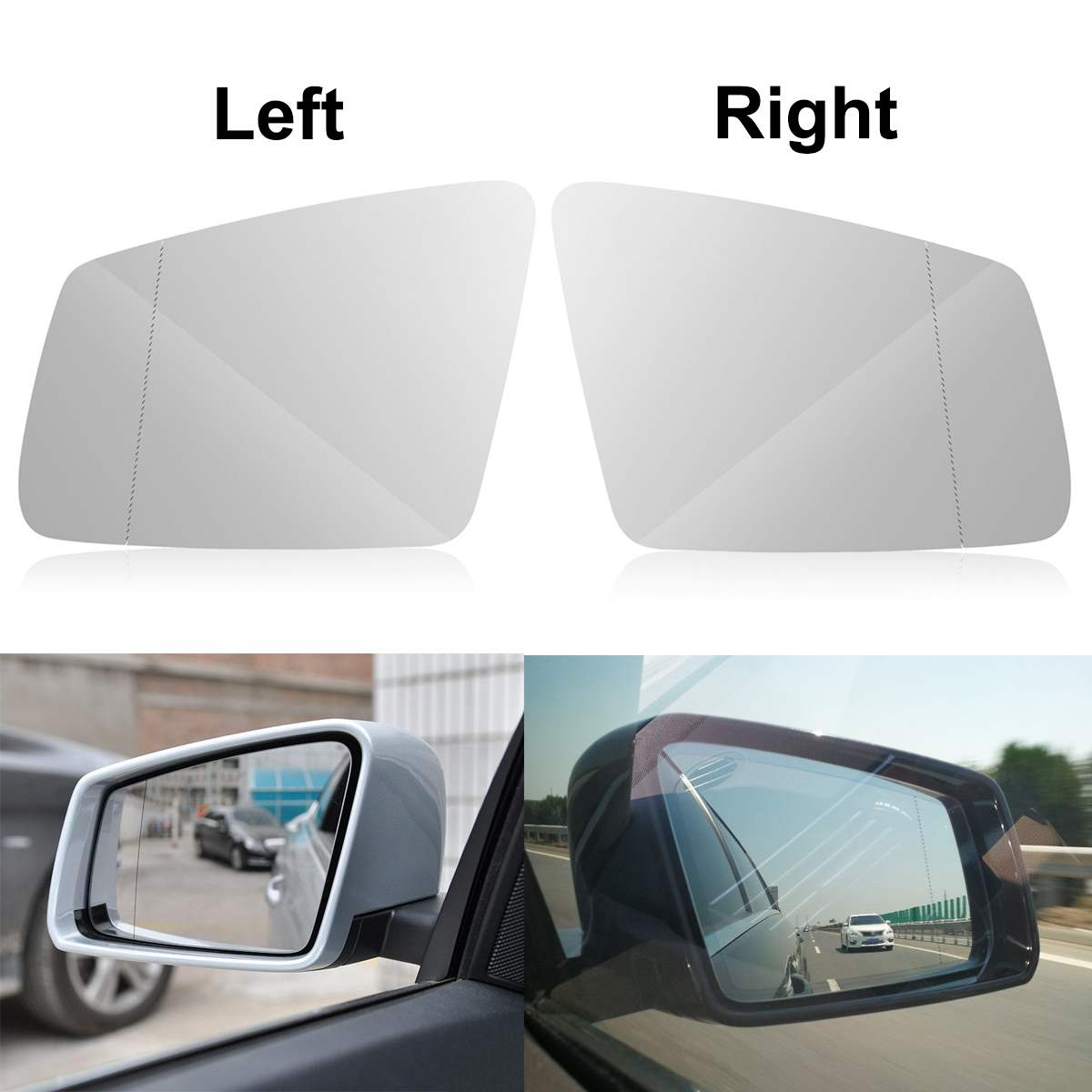 A6 RIGHT SIDE Wing Mirror Glass Wide Angle 2011 to 2018