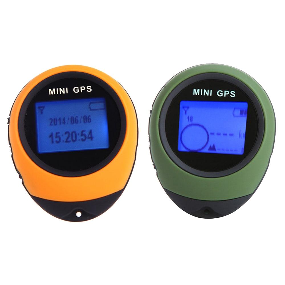 Мини навигационное устройство GPS портативный ручной брелок с отслеживанием перезаряжаемый локатор поиска пути Компас для кемпинга путешес...