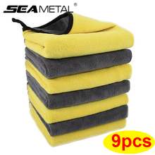 Microfiber Cleaning Towel 3/6/9pcs Micro Fiber Wash Towels for Car Double Layer Extra Soft Cleaning Drying Cloth Car Wash Rags
