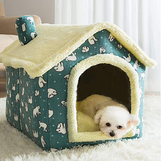 Removable Cat Bed House Kennel Nest Pet Nest Cat Tent Dog Bed Warm Dog House Cushion Sofa Bed Pet Products Cat House Pet Bed 5