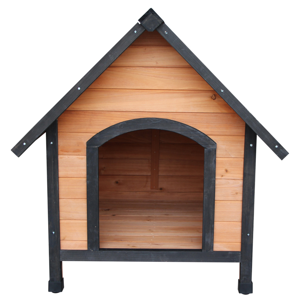 <font><b>Dog</b></font> <font><b>House</b></font> Waterproof Pet <font><b>House</b></font> Home Wooden <font><b>Outdoor</b></font> Pet Kennel Shelter Weather Resistant <font><b>Dog</b></font> Cat Kennel for Backyards - US Stock image