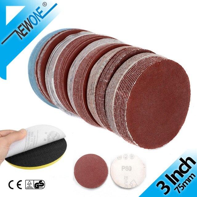 3 inch 75mm Sandpaper 10PCS Sanding Disc 60-2000 Grit For Dremel Sander Machine Self Stick Abrasive Tools Accessories