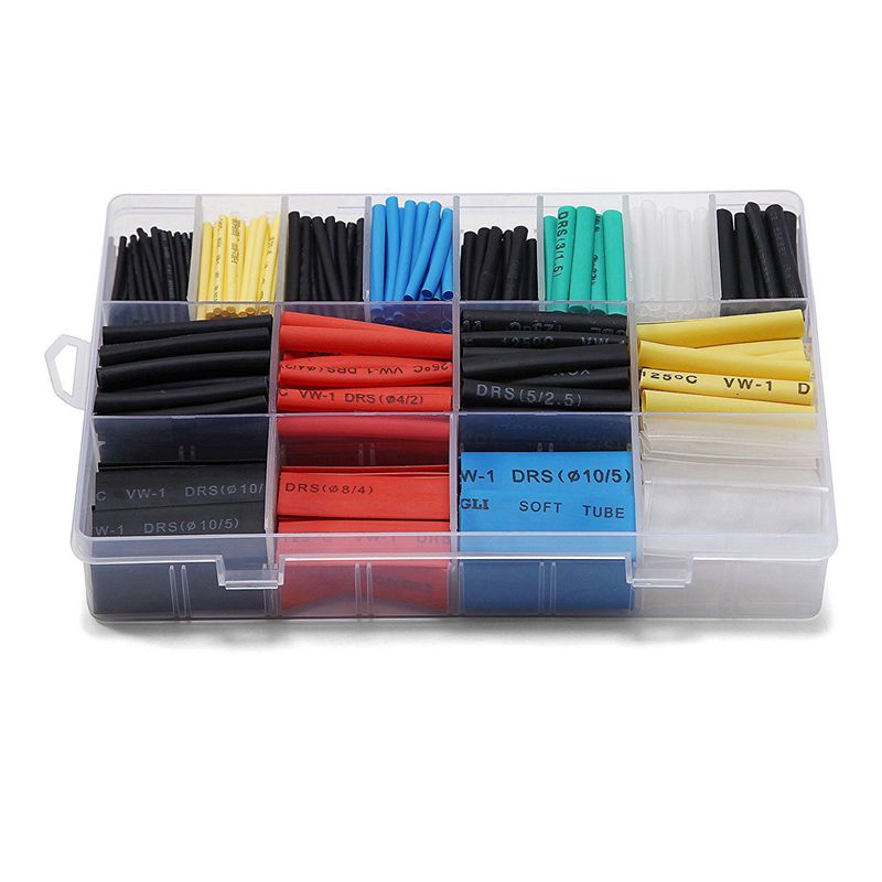 580 pcs 2:1 Heat Shrink Tube 6 Colors 11 Sizes Tubing Set Combo Assorted Sleeving Wrap Cable Wire Kit for DIY|Phone Repair Tool Sets|Cellphones & Telecommunications - title=