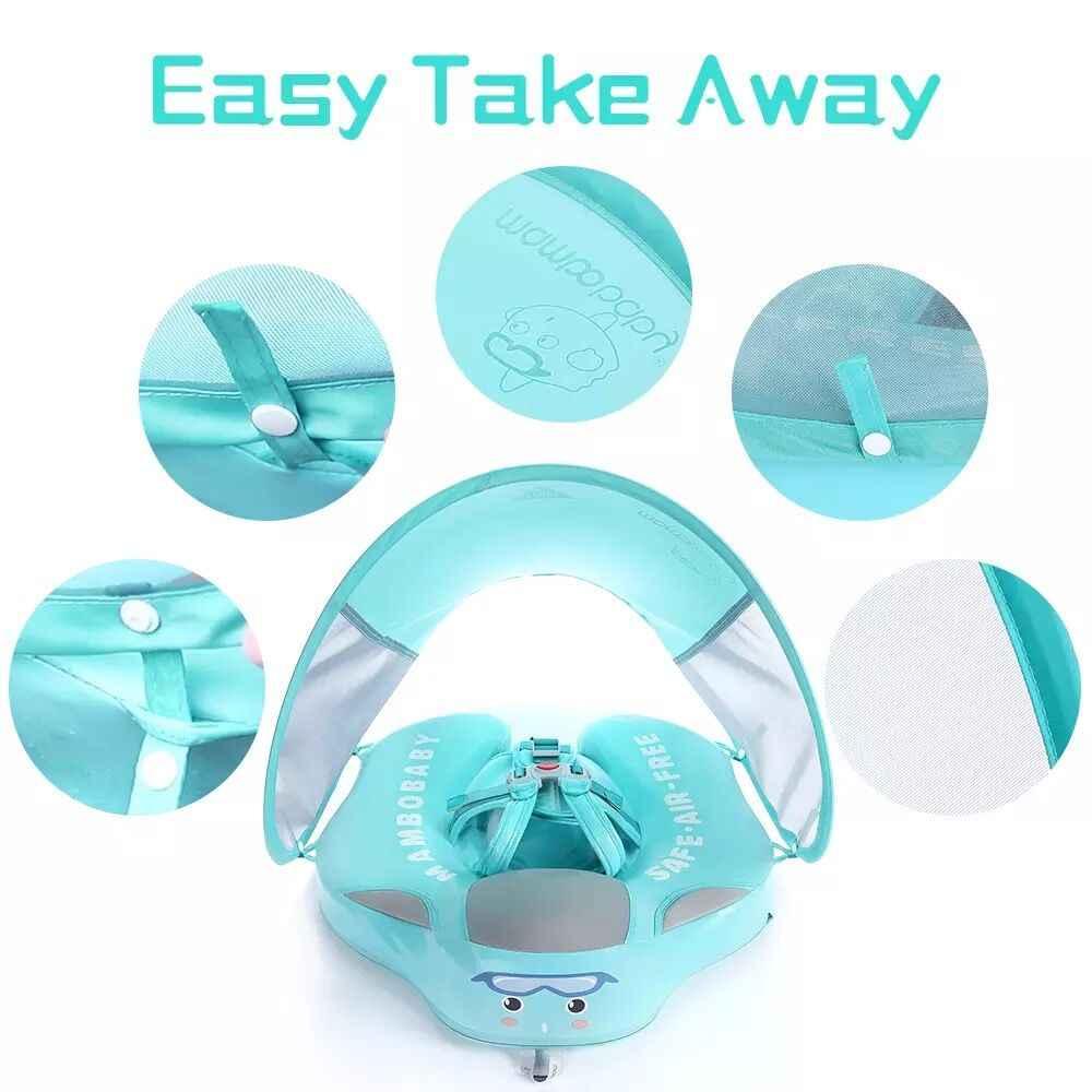 สีทึบไม่มี Inflatable ความปลอดภัยสำหรับทารกว่ายน้ำแหวนลอยลอยสระว่ายน้ำของเล่นอ่างอาบน้ำสระว่ายน้ำ SWIM TRAINER
