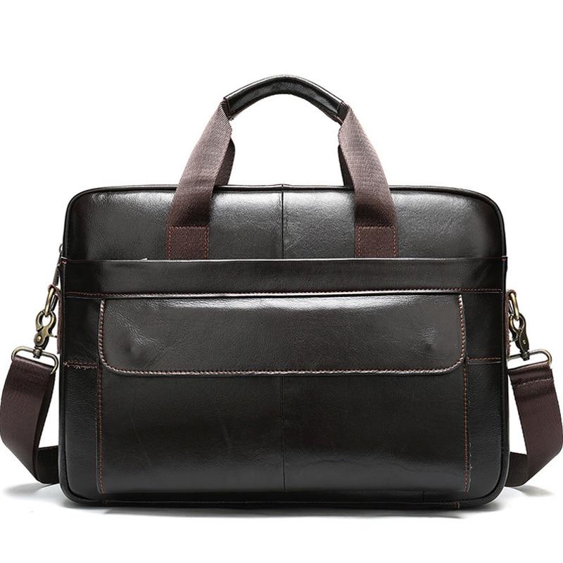 Men's Briefcases Genuine Leather Office Bags For Men Business Documents Messenger Bag Male Handbags Leather Laptop Bag  XA625ZC