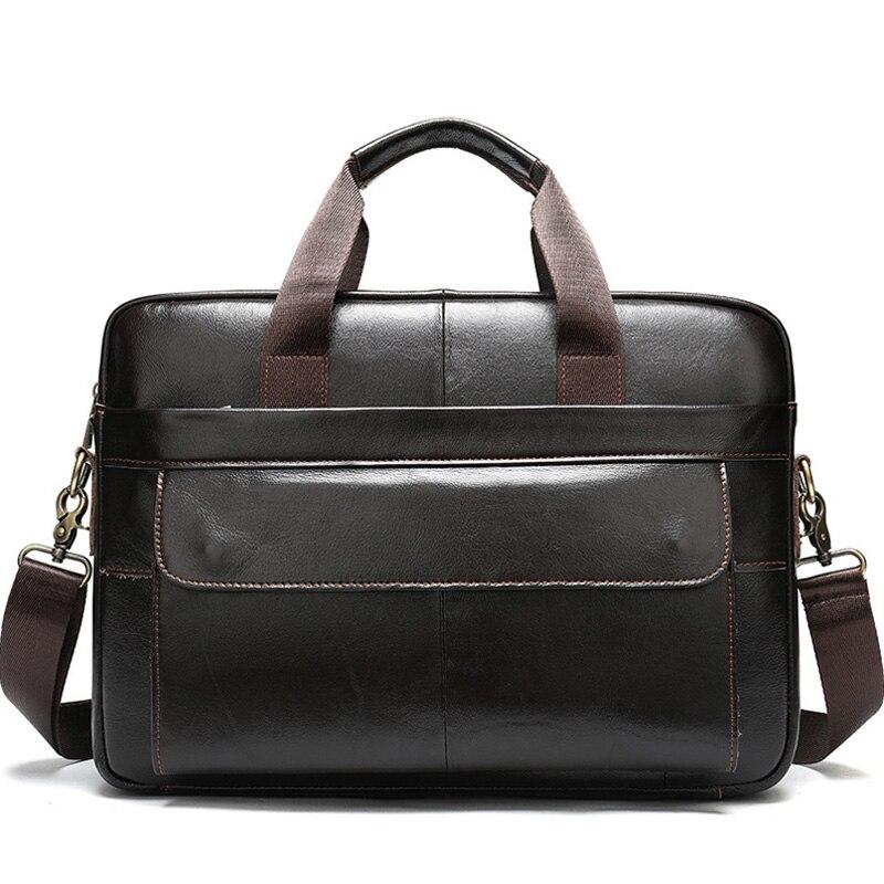 Porte-Documents pour hommes en cuir véritable sacs de bureau pour hommes Documents d'affaires sac de messager sacs à main pour hommes en cuir pochette d'ordinateur XA625ZC