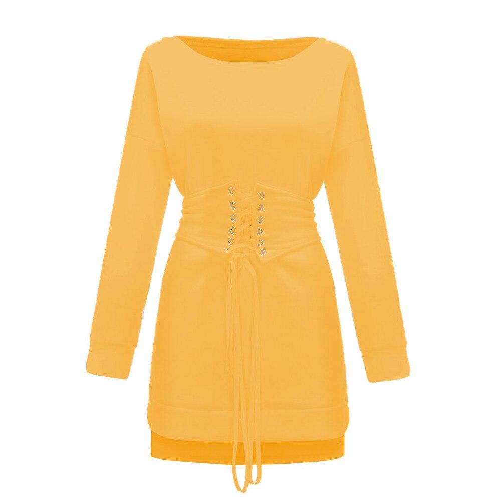 Robe épaisse Hiver femmes col rond à manches longues polaire + ceinture 102