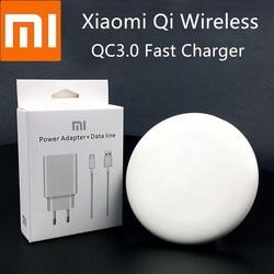 Xiao mi qi carregador sem fio 9 v/1a adaptador de carga original para mi mi x 2s mi 9 pro 5g huawei p30 iphone 8 x xs xr max 11 pro max