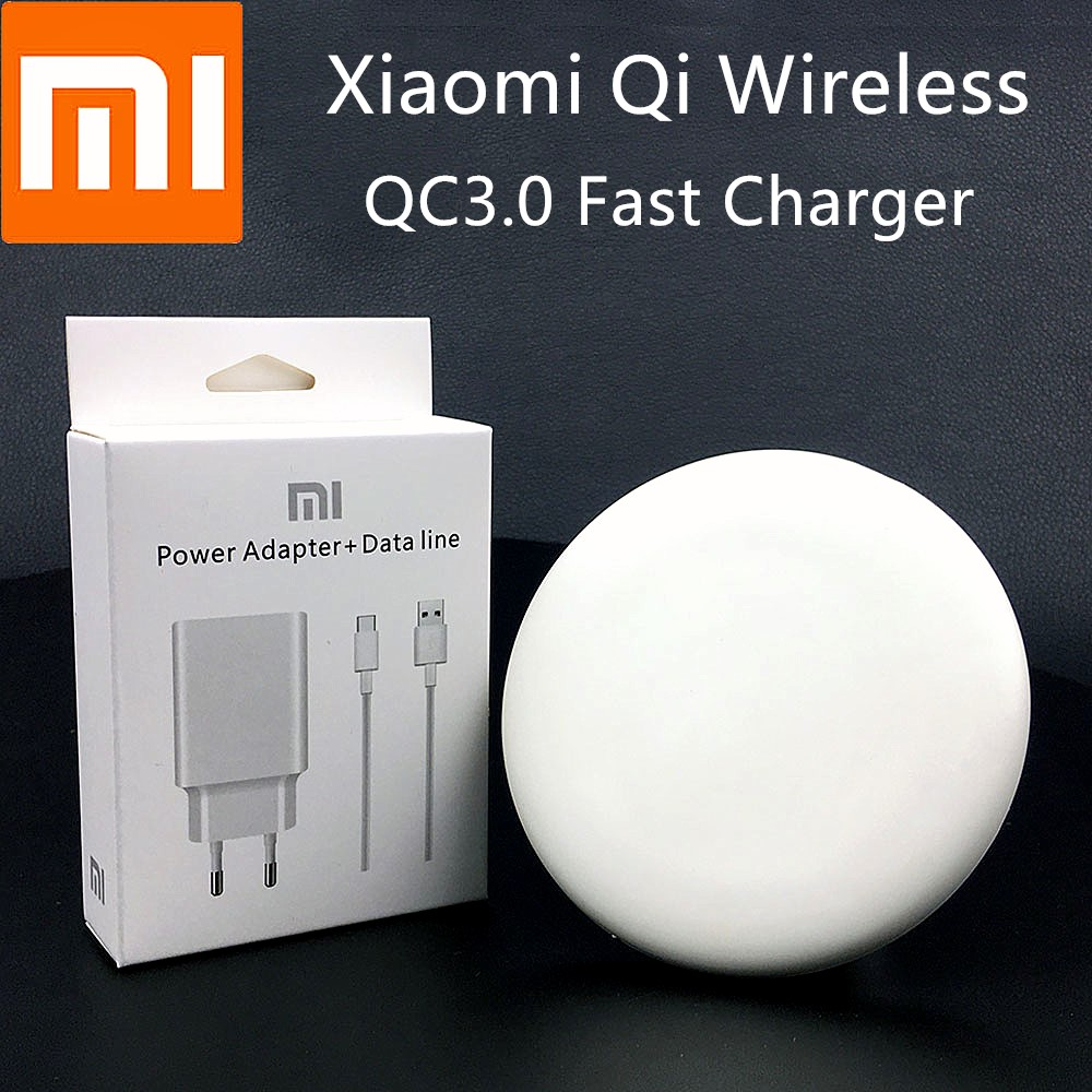 XiaoMi Qi Wireless Charger 9V /1A Original Charge Adapter For Mi Mix 2s Mi 9 9 Pro 5G Huawei P30 Iphone 8 X XS XR Max 11 PRO MAX