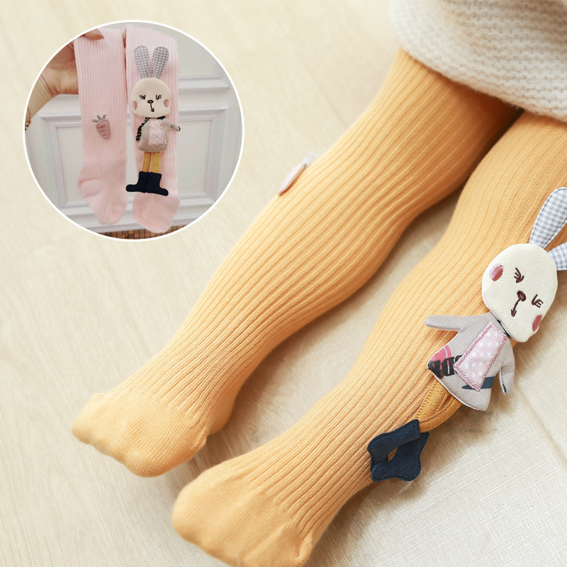 Spring Autumn Kids Knitted Children Pantyhose Cotton Double Needle Tights for Girls Cute Animal Baby Girl Winter Clothes 3