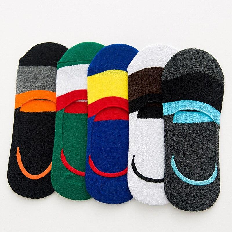 5pairs  Men's And Women's  Floor Socks Cotton Short Socks