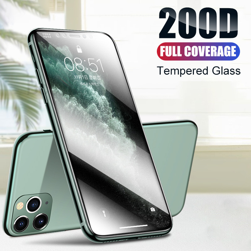 200D Full <font><b>Cover</b></font> Tempered Glass For <font><b>iPhone</b></font> 11 Pro X XR XS MAX Protective Glass <font><b>iphone</b></font> 11 Pro <font><b>Screen</b></font> Protector on <font><b>iphone</b></font> 11 7 <font><b>8</b></font> image