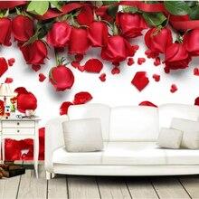 Beibehang Customized large fashion photo wallpaper red