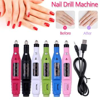 USB Electric Nail Drill Machine Machine Set Nail Art Pen Kit Nail File Pedicure Manicure Remove Nail Polish Gel Nail Art Tools 1set nail drill bits set nail art polish manicure pedicure machine nail brushes gel nails polish remover makeup tool kit eu plug