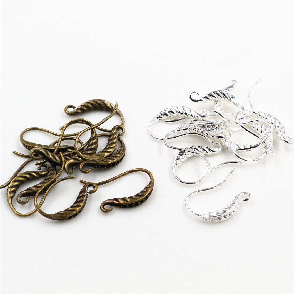 10pcs ( 5pair) 18*13mm Bright Silver Plated And Bronze Plated Popular Ear Hooks Earring Wires For Women Fashion Jewelry Earrings