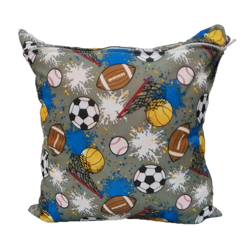 Детские Пеленки сумки с принтом двойной молнии Влажная/сухая сумка водонепроницаемый влажная ткань пеленки рюкзак многоразовые пеленки